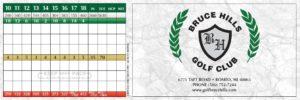 Bruce Hills Golf Course Scorecard