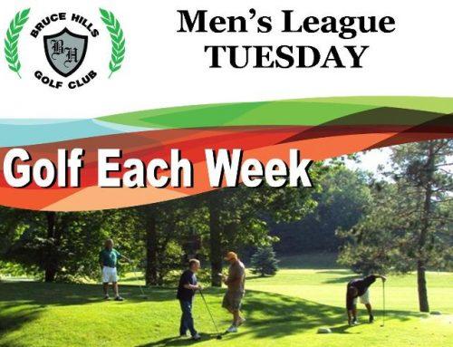Men Golf League on Tuesday