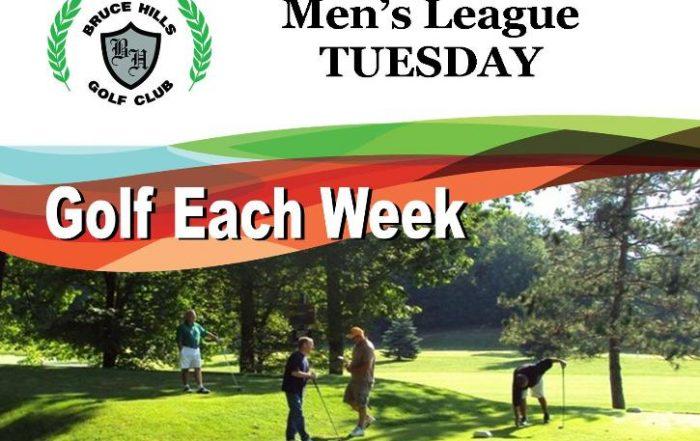 Tuesday Men's Golf League